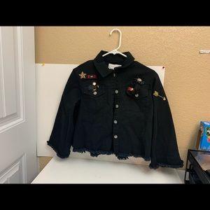 anthropologie Black Military Jacket